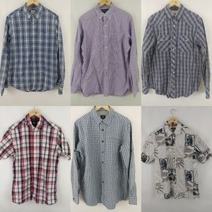 Lot of 6 mens shirts m.